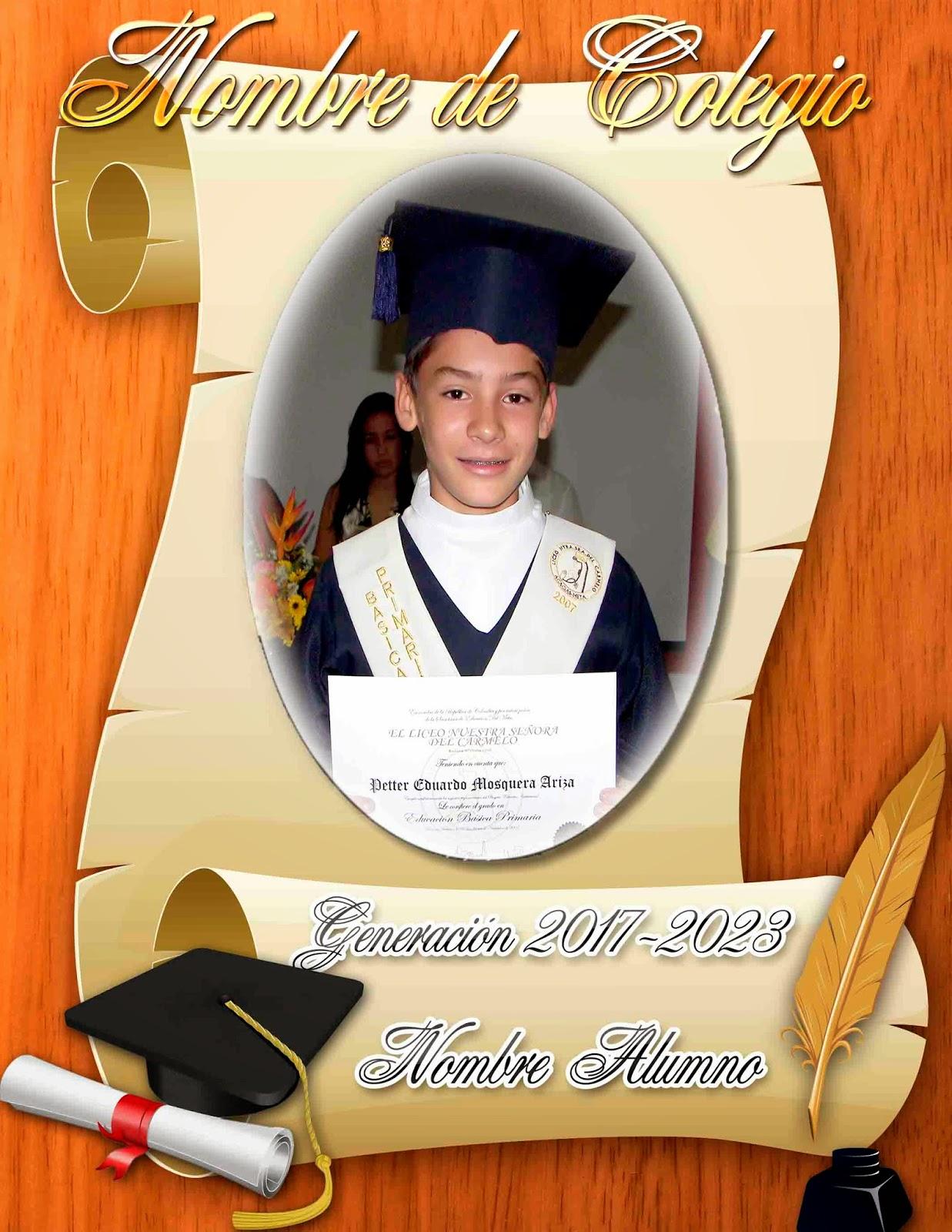 Marco para fotos de graduación - Marcos en psd y png para ...