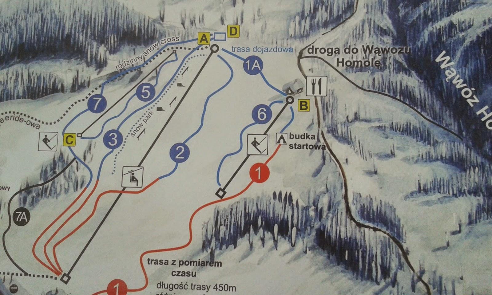Trasy narciarskie Arena Homole