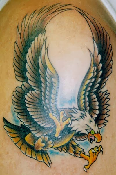 Eagle feather tattoo design images