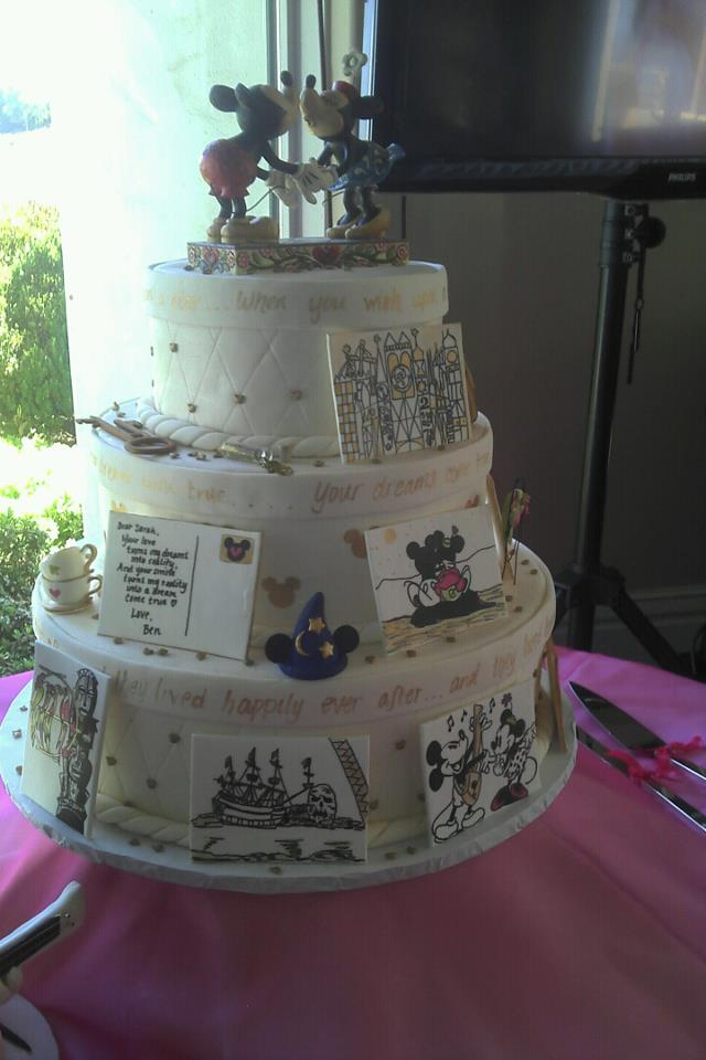 We really wanted to make the cake capture the vintage disney theme