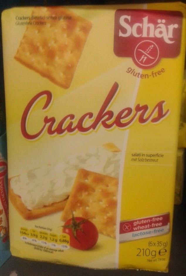 Schär gluten free Crackers at Carrefour. Sin Gluten (aka Gluten Free) food from Spain