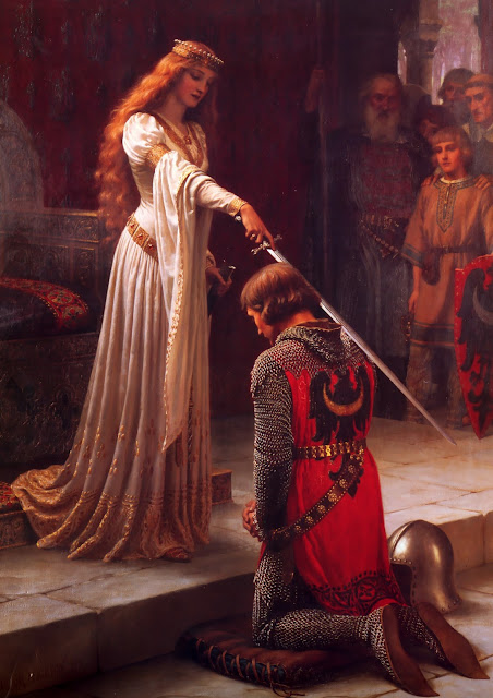 accolade,Knights,Edmund Blair Leighton