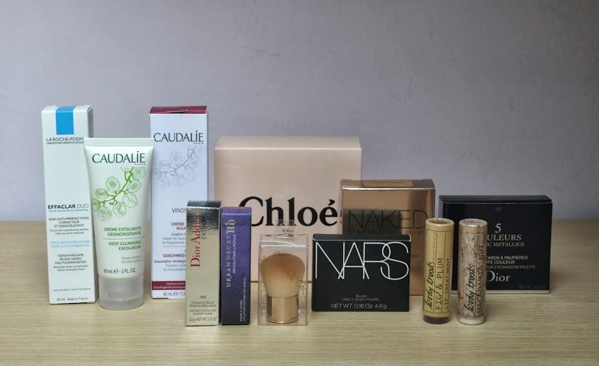 Birthday Haul: La Roche Posay, Caudalìe, Dior, Urban Decay, H&M, Chloé, Nars.