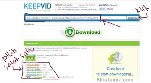 Cara Download Video Youtube via Keepvid