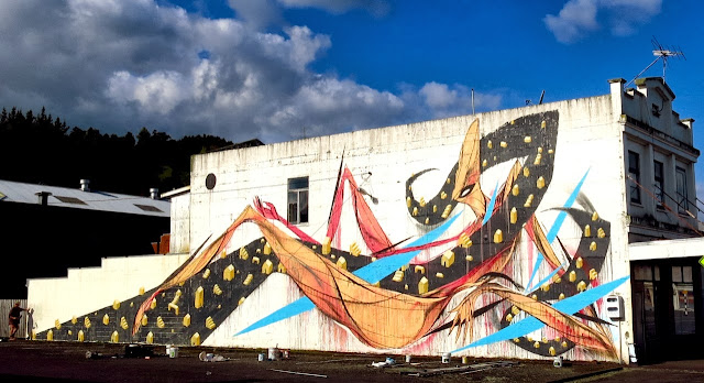 Street Art By Shida and ENO in Hamilton, Taumarunui, Tekuiti and Wanganui, New Zealand. 2