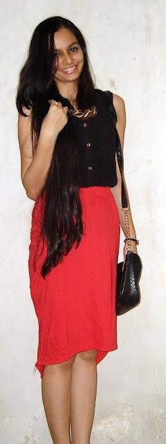 red skirt, borivali shopping, street shopping, mumbai fashion blog, indian fashion bloggers