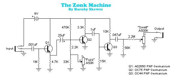 Sola Sound LTD - Tonebender MKI / Hornby Skewes - Zonk Machine / D*A on pro co rat, ibanez tube screamer, boss ds-1 schematic, ross compressor schematic, overdrive schematic, guitar pedalboard, marshall shredmaster, fuzz schematic, univox super-fuzz, phaser schematic, guitar schematic, shin-ei companion fy-2,