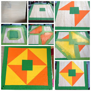Making a barn quilt