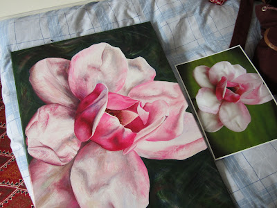 Commissioned painting of a new Magnolia cultivar finished