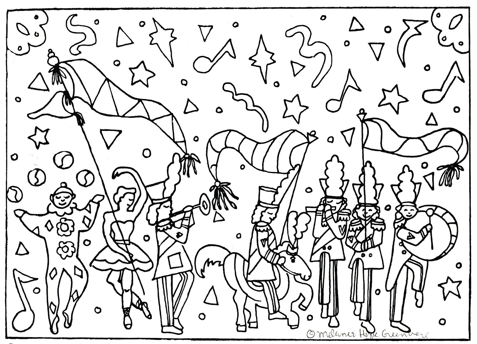 Parade coloring pages to print for adults - In Honor Of Spring I Am Offering Free Coloring Pages Click On Each Image To Enlarge Print Color