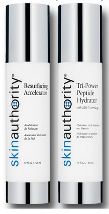 skin authority resurfacing accelerator, skin authority tri-power peptide hydrator, skin authority, hsn