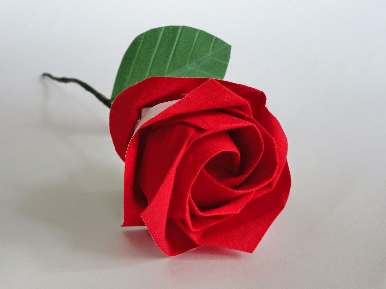 get creative art and craft: paper rose origami - photo#29