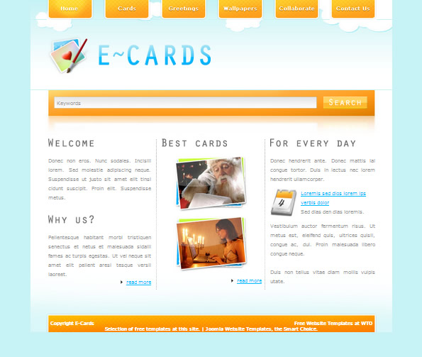 Ecommerce Site Name : E Cards Orange