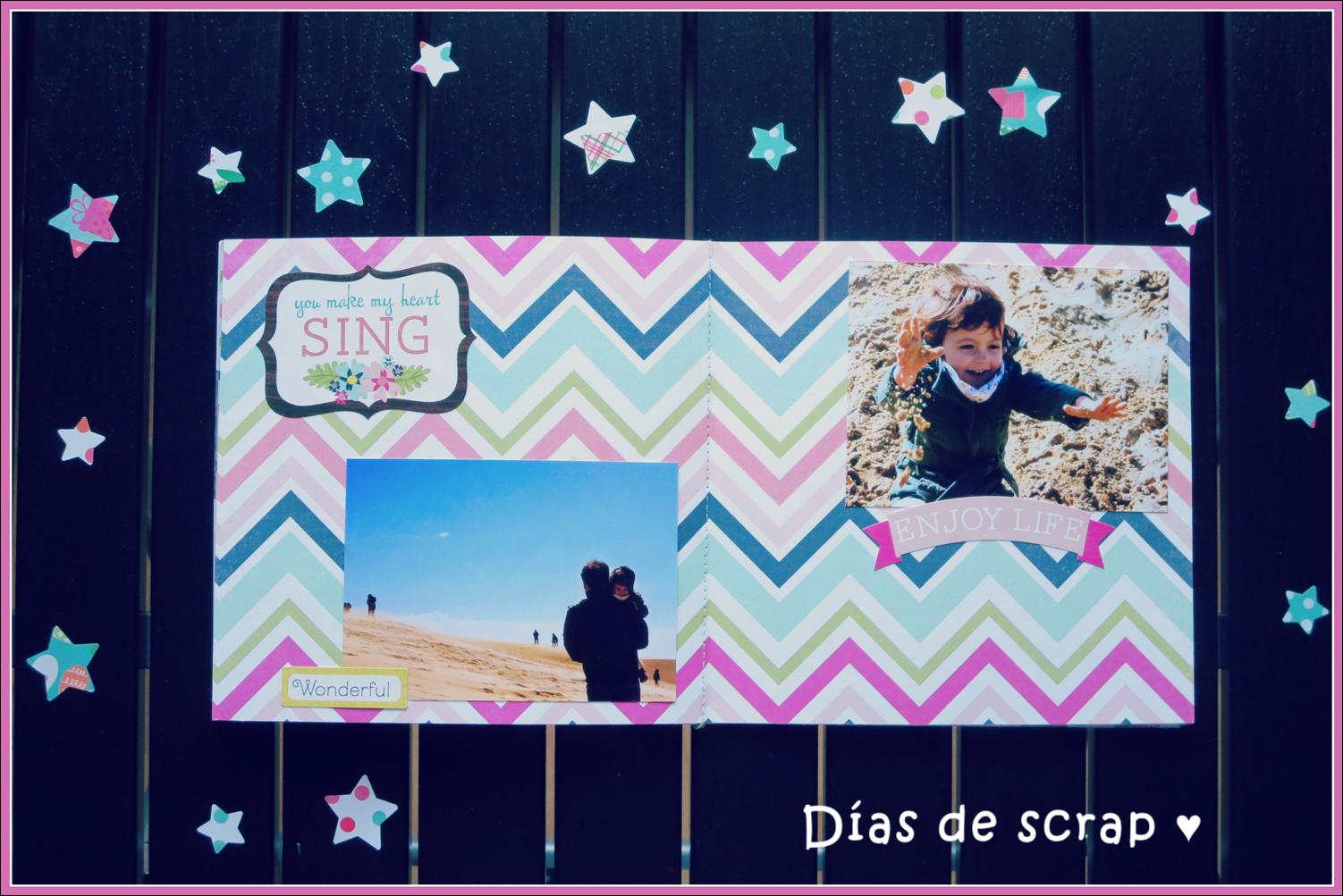 scrap mini album splendid sunshine