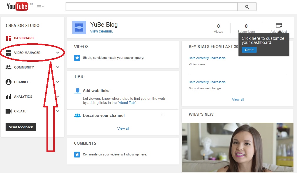 Delete YouTube Search History