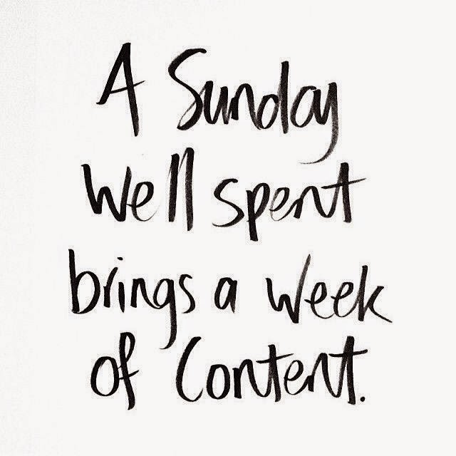 sunday well spend brings a week of content