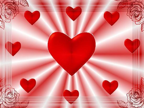 tarjetas  de amor con corazon