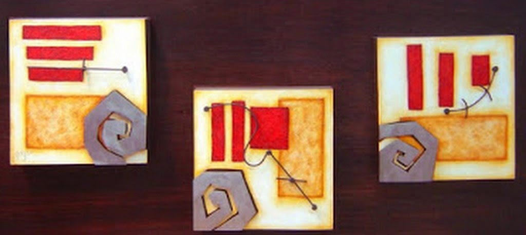 Cuadros Abstractos Para Pintar. Cuadros Abstractos Coloridos Con ...