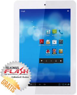 Tablet Lokal Terlaris, SpeedUp Pad 8 - 4 GB Putih