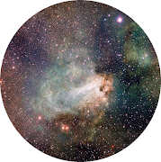 The picture of the galaxy in the circle is from Google Images