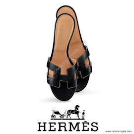 Princess Marie Style HERMES Oasis Sandals and ISABEL MARANT Top and Skirt