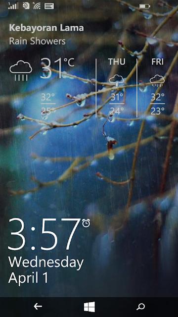 Lock screen seharusnya seperti ini
