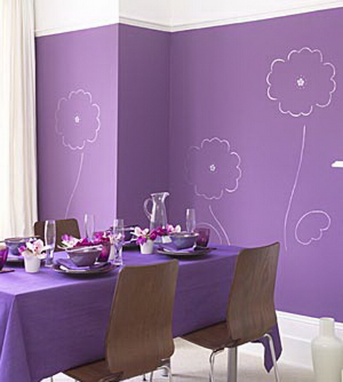Purple room decorating ideas architectural home designs for Purple dining room decorating ideas