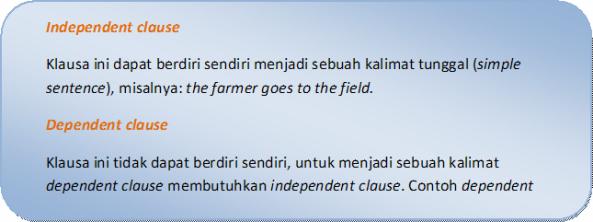 Klausa Dependen dan Independen dalam Kalimat Bahasa Inggris