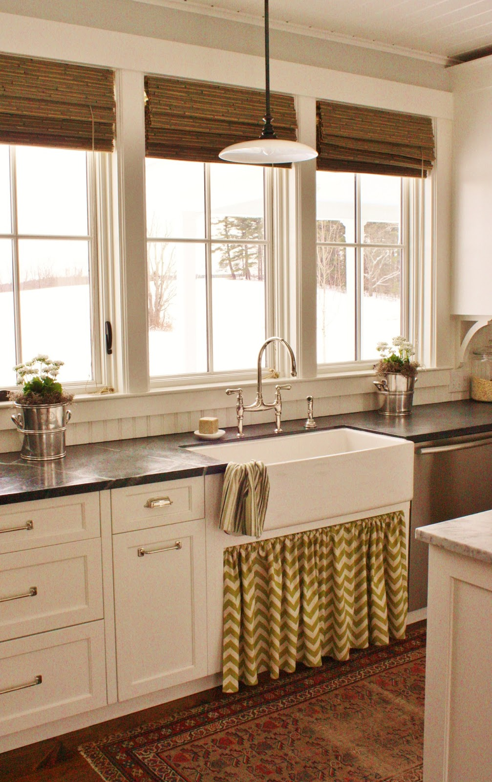 Skirted Sink Kitchen : for the love of a house: a new kitchen skirt for spring