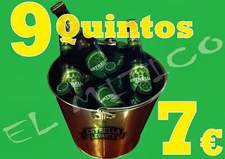 9 quintos por 7€