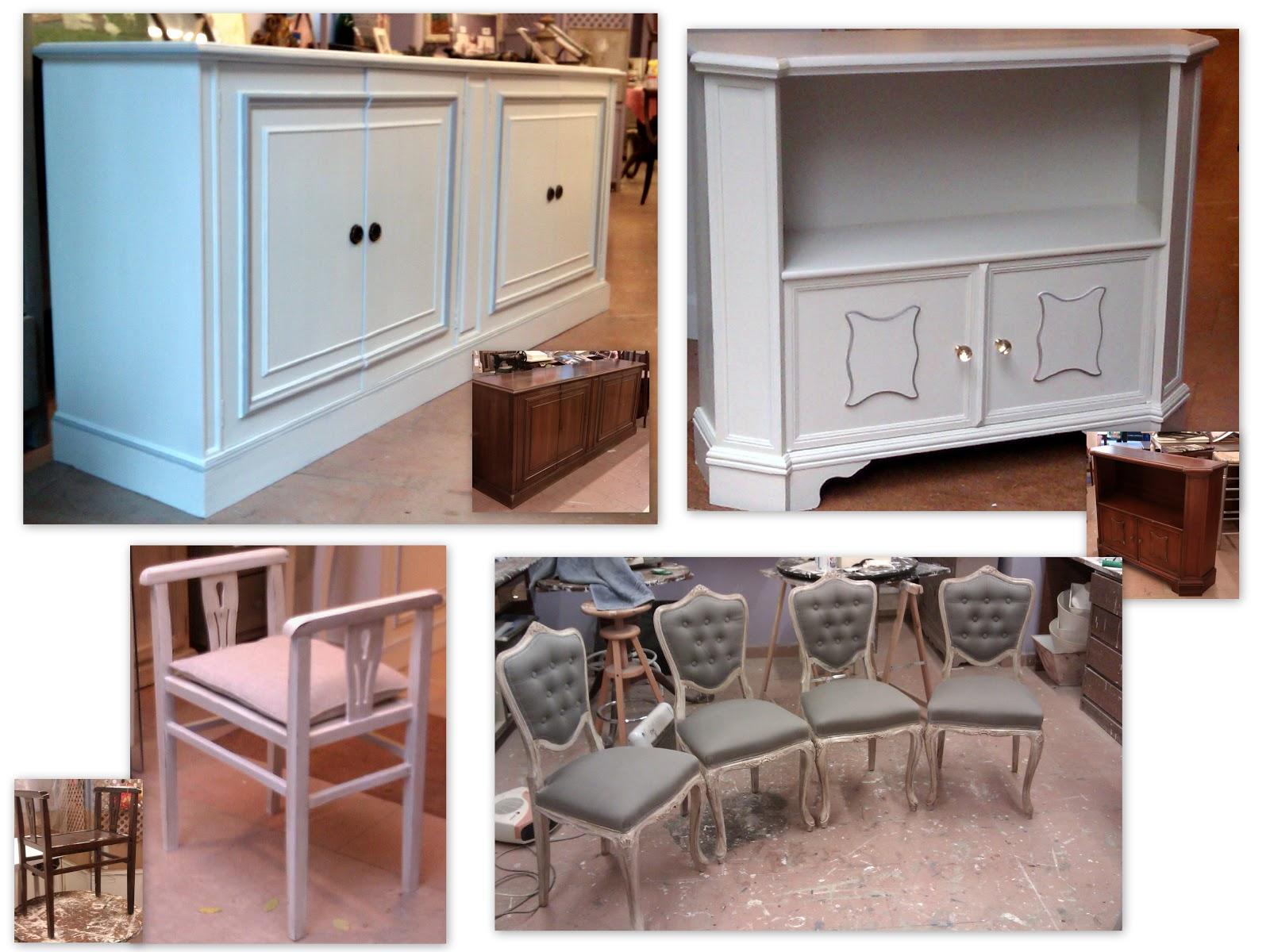 Tienda de muebles candini venta y restauraci n blanco - Muebles blanco decapado ...