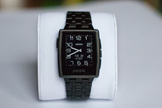 smartwatch pebble steel black matte