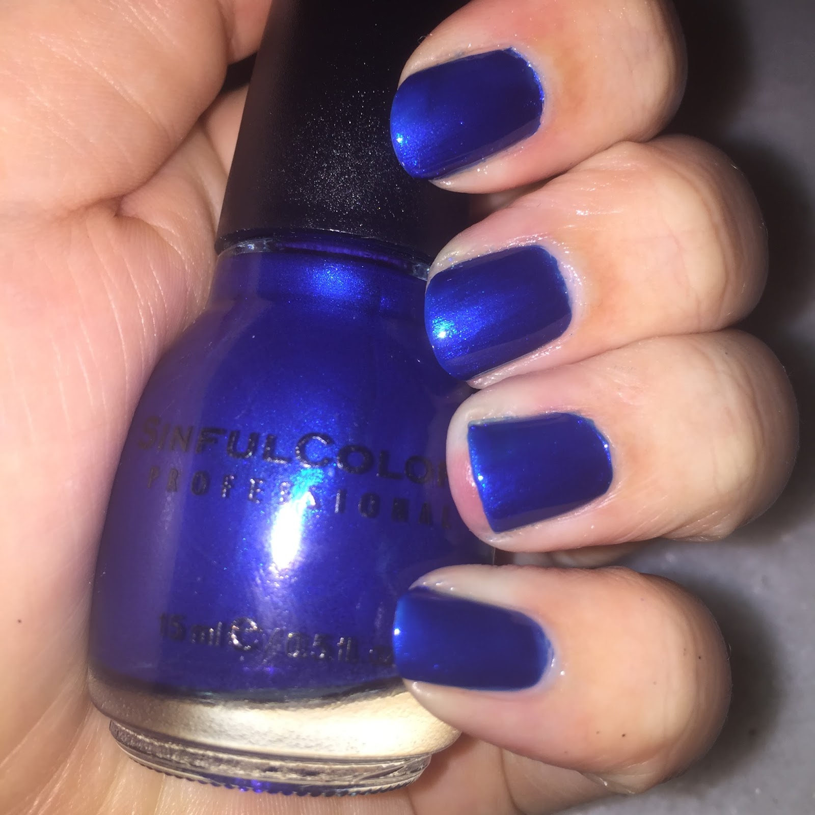 SinfulColors midnight blue