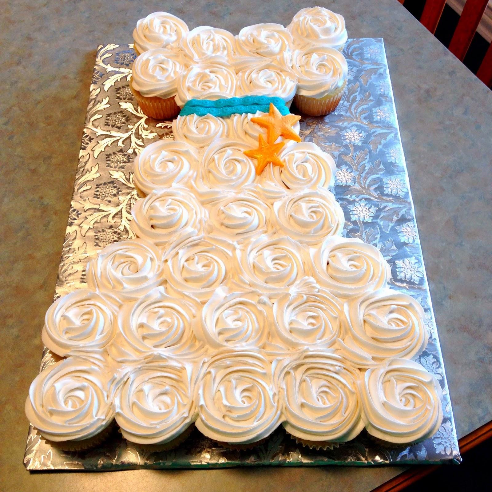 Wedding Wedding Dress Cupcake Cake bridal shower wedding dress cupcake cake grace ful cakes cake
