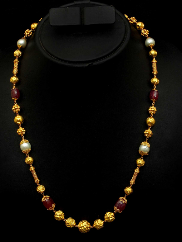 jewellery beads latest and chain nagas chains designs ruby gold