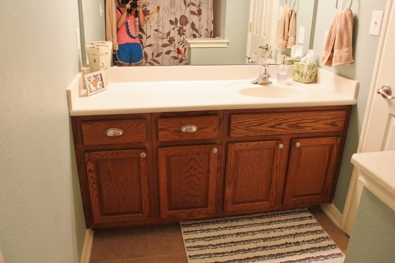 naptime diy painting bathroom cabinets