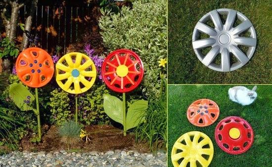 idee deco jardin avec pneu