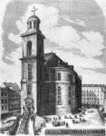 Zug des deutschen Parlaments nach der Paulskirche in Frankfurt a. M. am 18. Mai 1848