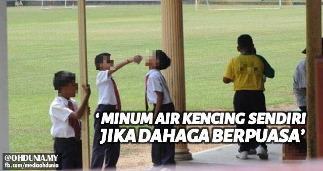 Guru didakwa arah murid minum 'air kencing' sendiri jika dahaga puasa