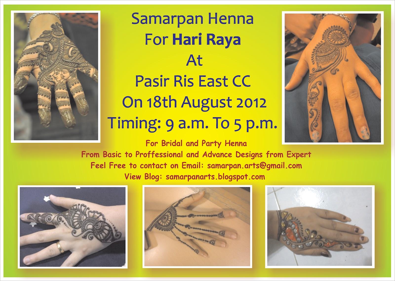 Samarpan Arts Henna For Hari Raya At Pasir Ris