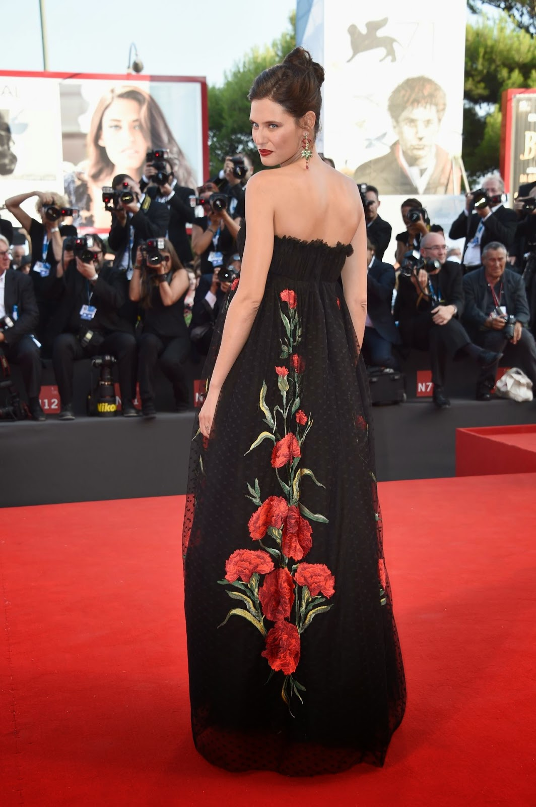 Bianca Balti arrives in Dolce & Gabbana for the 'Birdman' Venice Film Festival Premiere and Opening Ceremony