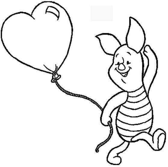 cartoon valentines day coloring pages - photo#4