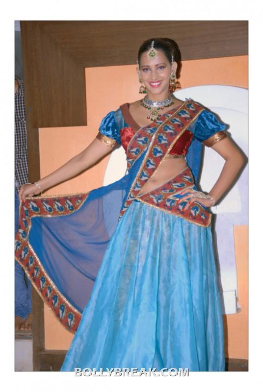Sanjana singh blue dress navel show hot pic - (7) -  Sanjana singh new photo shoot