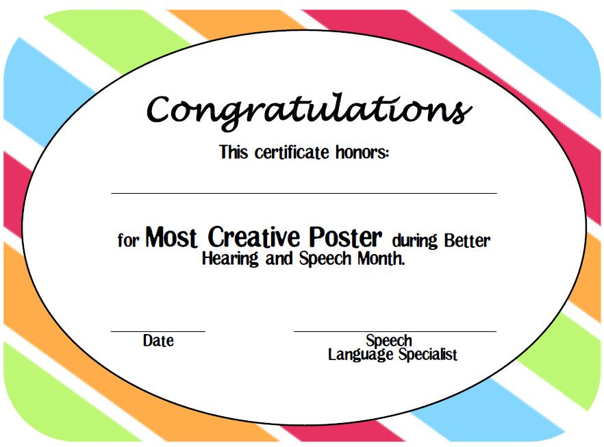 contest winner certificate template