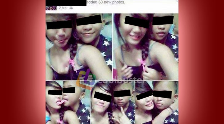 Minors Tongue Kissing in Selfie Photo Collage