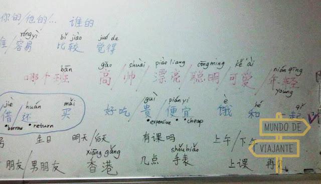 Intercâmbio de mandarim ensinado em inglês