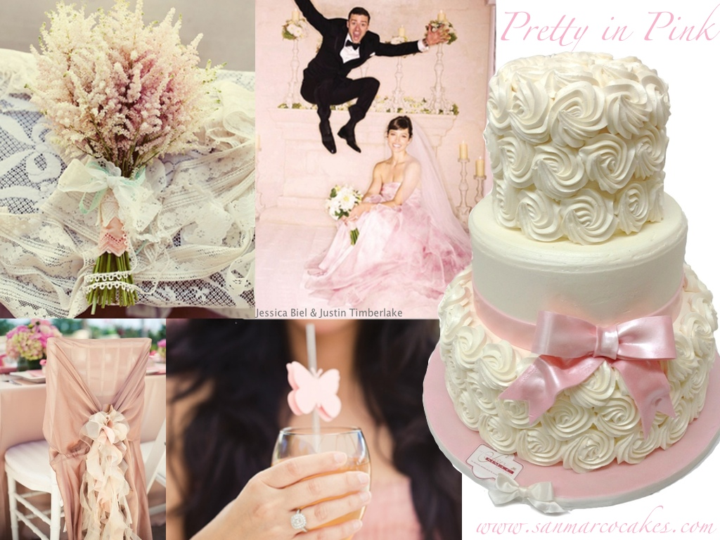 San Marco Cakes Ivory Pink Wedding Theme Vintage San Marco