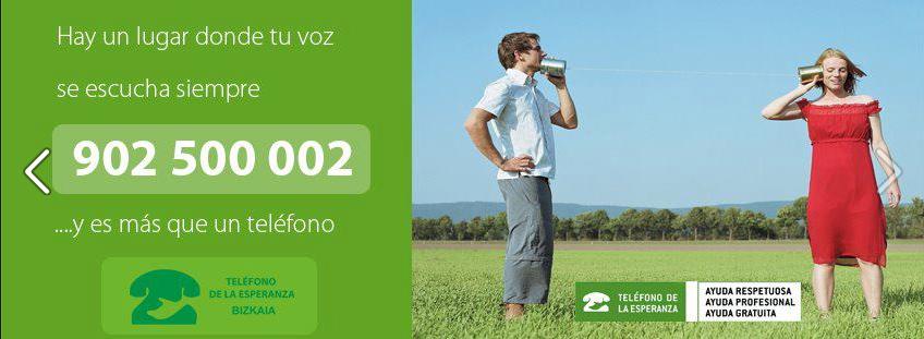 Teléfono de la Esperanza en Bizkaia- Bizkaiko Itxaropenaren Telefonoa