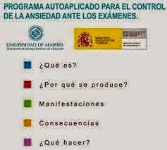 -Programa  Autoaplicado para el control de la ansiedad ante los exámenes.