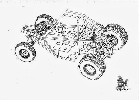 free go kart coloring pages - photo#10